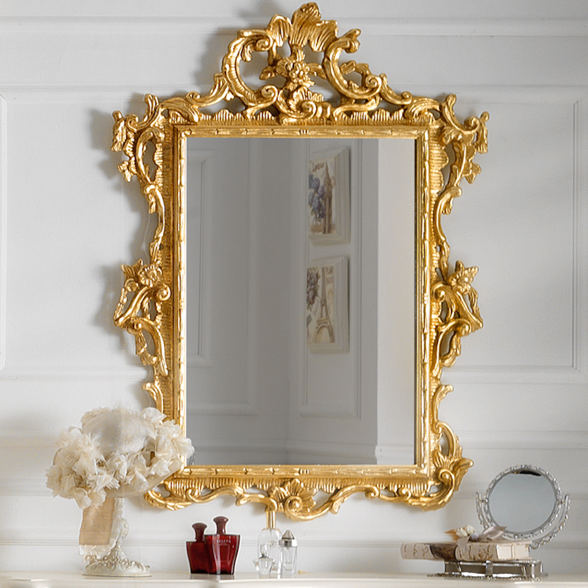 10 dazzling wall mirrors to embellish your home for Embellished mirror frame