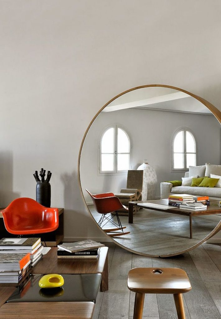 Wonderful Astonishing Round Wall Mirrors to Glam Up Your Home Décor TY78