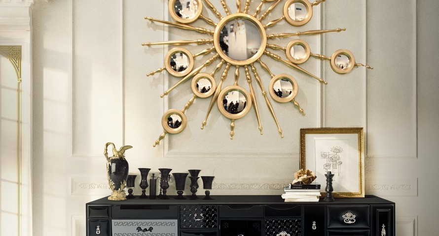 10 Fabulous Gold Mirrors That Could Be Perfect for Your Home ➤ Discover the season's newest designs and inspirations. Visit us at http://www.wallmirrors.eu #wallmirrors #wallmirrorideas #uniquemirrors @WallMirrorsBlog