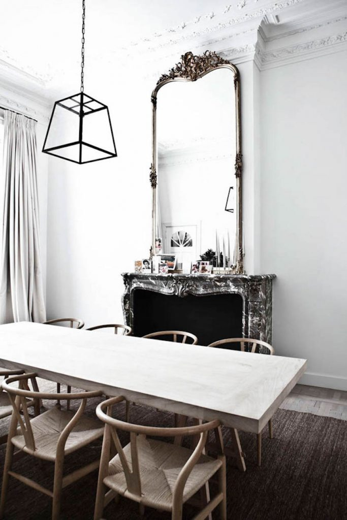 10 impressive oversized mirrors to make any room feel bigger for Modern mirrors for dining room