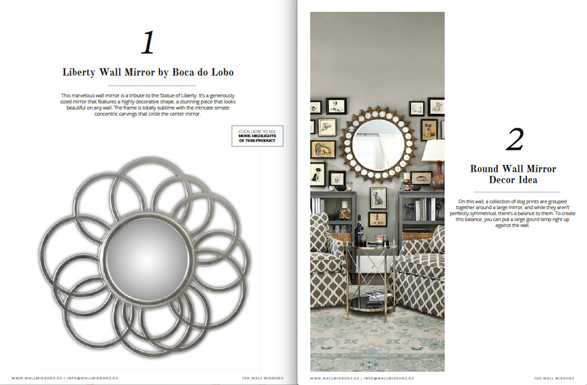 """Get Inspired With the Free e-Book """"100 Must-See Wall Mirror Ideas"""" ➤ Discover the season's newest designs and inspirations. Visit us at http://www.wallmirrors.eu #wallmirrors #wallmirrorideas #uniquemirrors @WallMirrorsBlog 100 must-see wall mirror ideas Get Inspired With the Free e-Book """"100 Must-See Wall Mirror Ideas"""" Get Inspired With the Free e Book by Wall Mirrors 1"""