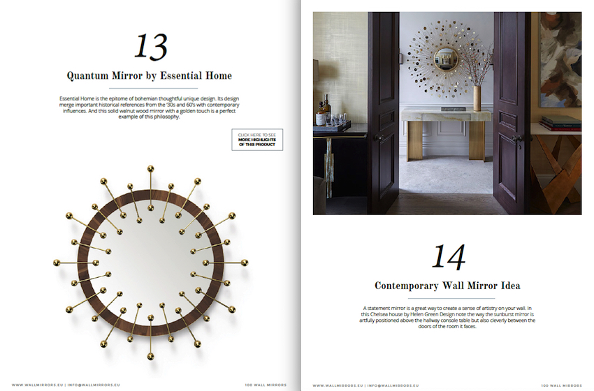 """Get Inspired With the Free e-Book """"100 Must-See Wall Mirror Ideas"""" ➤ Discover the season's newest designs and inspirations. Visit us at http://www.wallmirrors.eu #wallmirrors #wallmirrorideas #uniquemirrors @WallMirrorsBlog 100 must-see wall mirror ideas Get Inspired With the Free e-Book """"100 Must-See Wall Mirror Ideas"""" Get Inspired With the Free e Book by Wall Mirrors 4"""