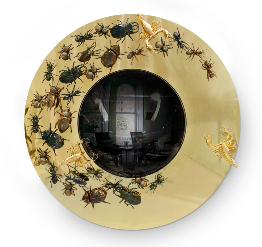 round wall mirrors 9 Dazzling Round Wall Mirrors to Decorate Your Walls convex metamorphosis 01
