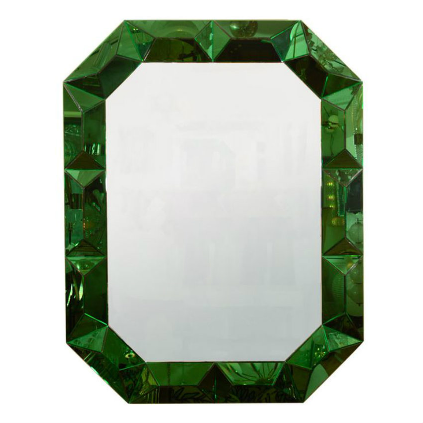 Unique Green Framed Mirrors For A Cheerful Home Decor