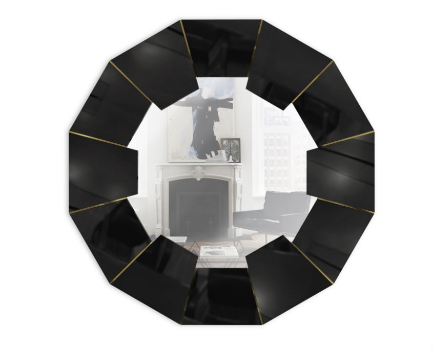 porthole mirrors Decorating Tips to Embellish Your Interiors with Porthole Mirrors darian black mirror 01