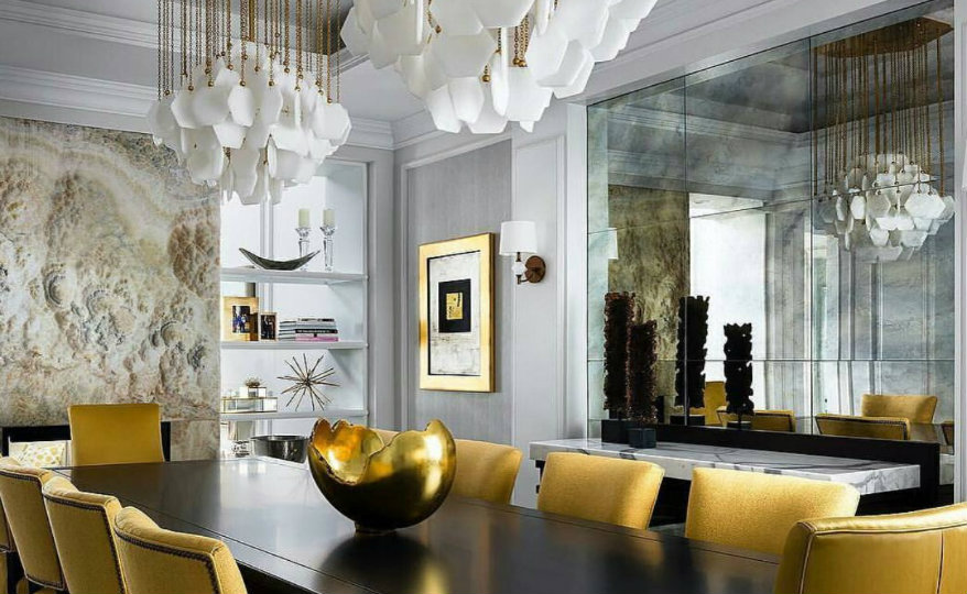dining room Exquisite Wall Mirrors that Will Rock Your Dining Room Decor drwmfi