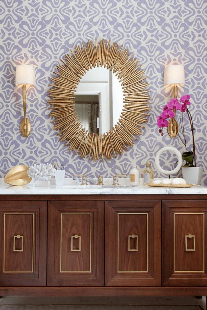 unique-gold-sun-mirror bathroom decor bathroom decor Personalize Your Bathroom Decor with Fabulous Wall Mirrors unique gold sun mirror
