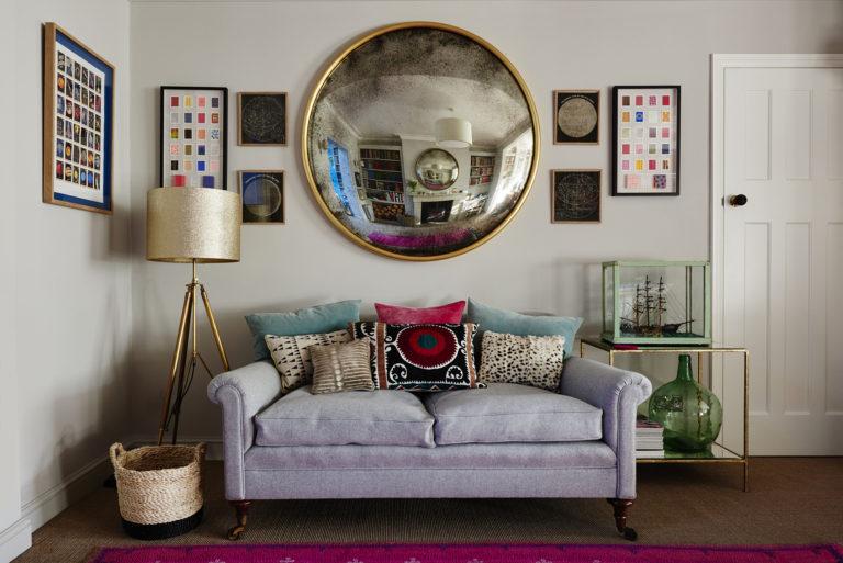 Convex Wall Mirror vintage bespoke wall mirrors london company reid & wright