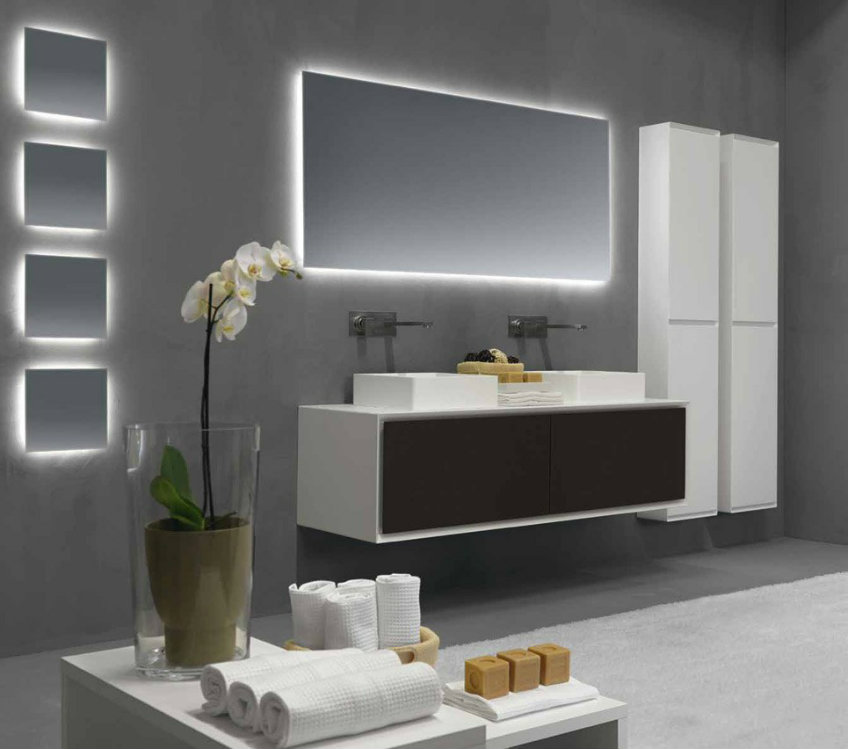 rifra led mirror LED Mirrors Contemplate these Functional and Unique LED Mirrors rifra led mirror