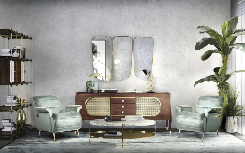 EH Living Room (12) wall mirrors Opt for the Perfect Furniture Piece to Place Below Your Wall Mirrors EH Living Room 12