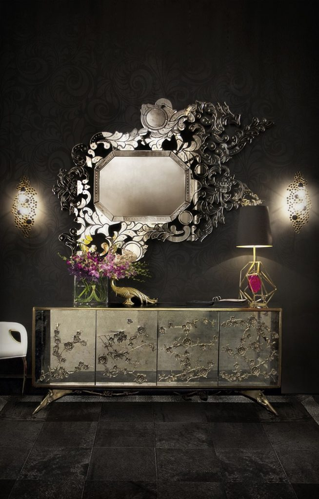 entrance-koket-02 wall mirrors Opt for the Perfect Furniture Piece to Place Below Your Wall Mirrors entrance koket 02