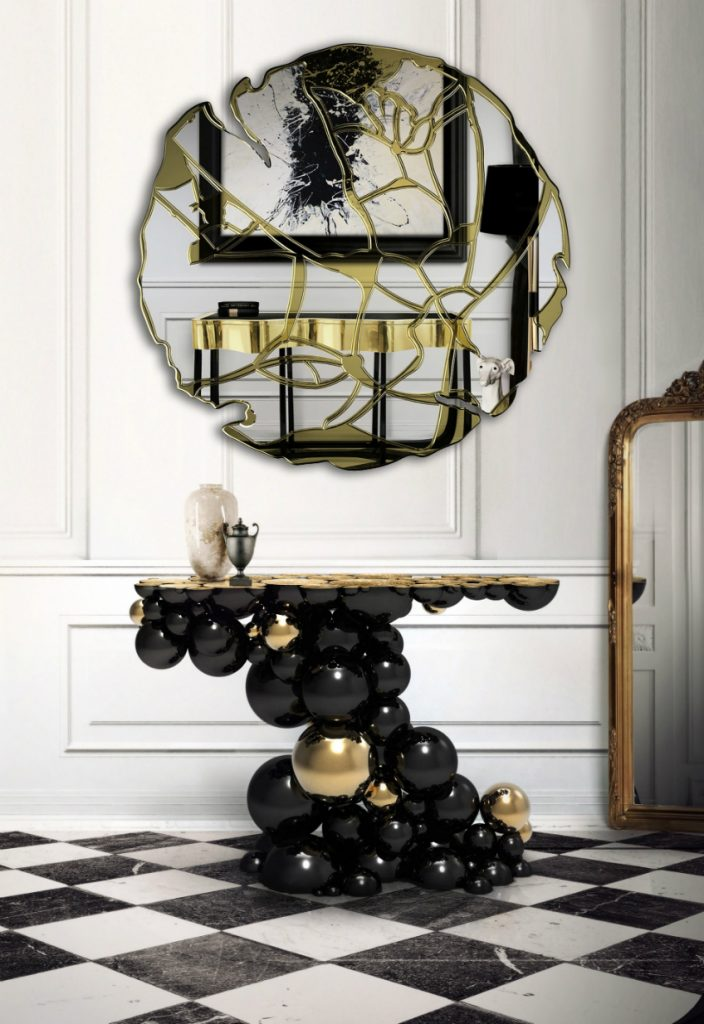 13 Astonishing Foyer Mirrors for a Welcoming Home foyer mirrors 13 Astonishing Foyer Mirrors for a Welcoming Home glance 02