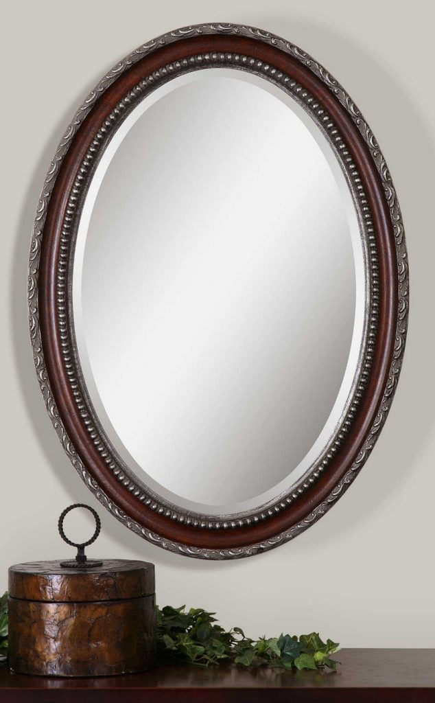 silver oval mirrors bathroom spruce up your interiors with mahogany mirrors 20364