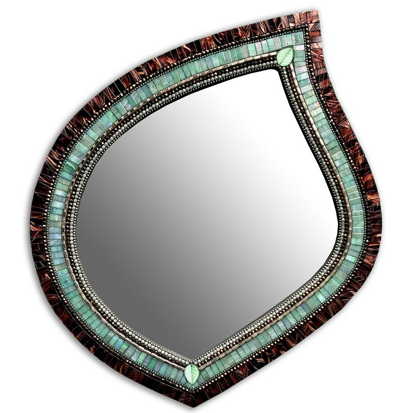 5 Stunning Wall Mirrors that Almost Seem to Be Art Objects Green Tea Leaf Mirror Wall Mirrors 5 Stunning Wall Mirrors that Almost Appear to Be Art Objects 5 Stunning Wall Mirrors that Almost Seem to Be Art Objects Green Tea Leaf Mirror