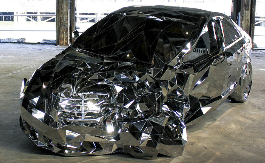 Be Stunned by a Jaw-Dropping Mercedes Benz S550 Made of Mirrors