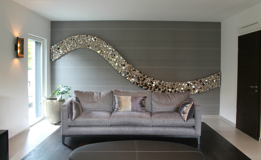 Wall Sculpture Lee Borthwick's Wave Wall Sculpture is Perfect for One's Living Room featured 1