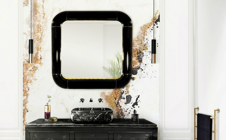 8 Stunning Wall Mirrors that Can Completely transform a Bathroom Set