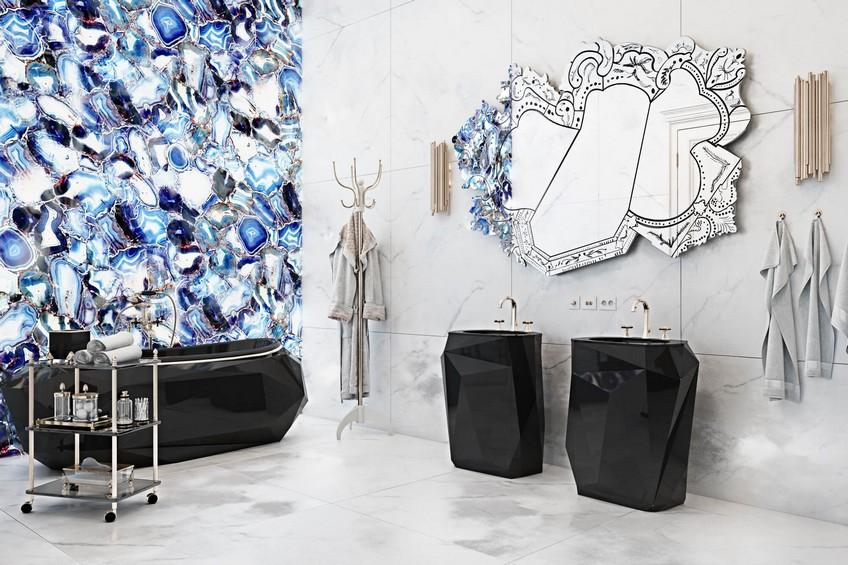 A Venetian Mirror Dramatically Enhances this Superb Bathroom Design 4 Bathroom Design A Venetian Mirror Dramatically Enhances this Superb Bathroom Design A Venetian Mirror Dramatically Enhances this Superb Bathroom Design 4