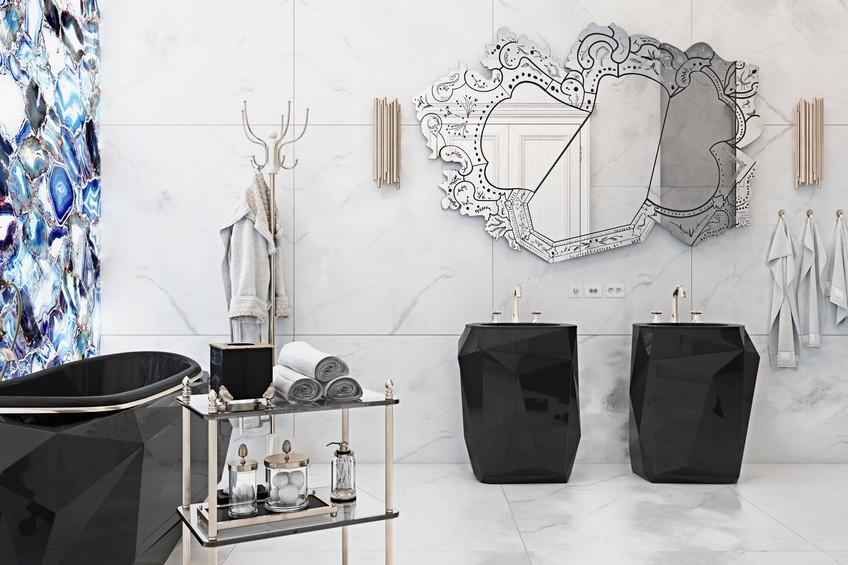 A Venetian Mirror Dramatically Enhances this Superb Bathroom Design 5 Bathroom Design A Venetian Mirror Dramatically Enhances this Superb Bathroom Design A Venetian Mirror Dramatically Enhances this Superb Bathroom Design 5