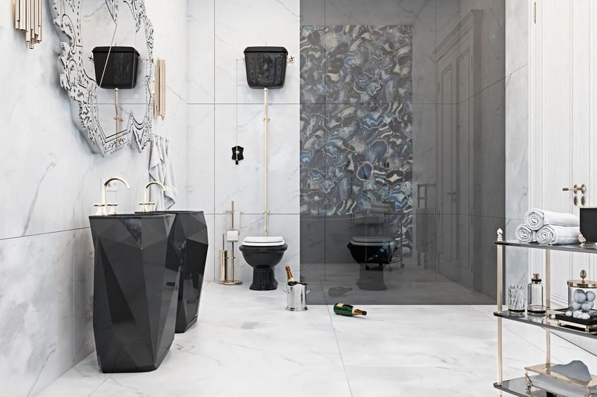 A Venetian Mirror Dramatically Enhances this Superb Bathroom Design 6 Bathroom Design A Venetian Mirror Dramatically Enhances this Superb Bathroom Design A Venetian Mirror Dramatically Enhances this Superb Bathroom Design 6