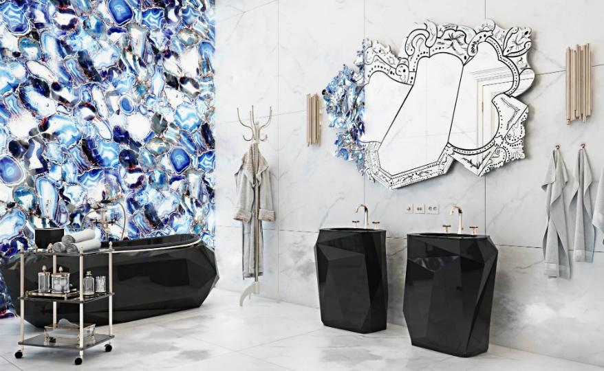 Bathroom Design A Venetian Mirror Dramatically Enhances this Superb Bathroom Design featured 2