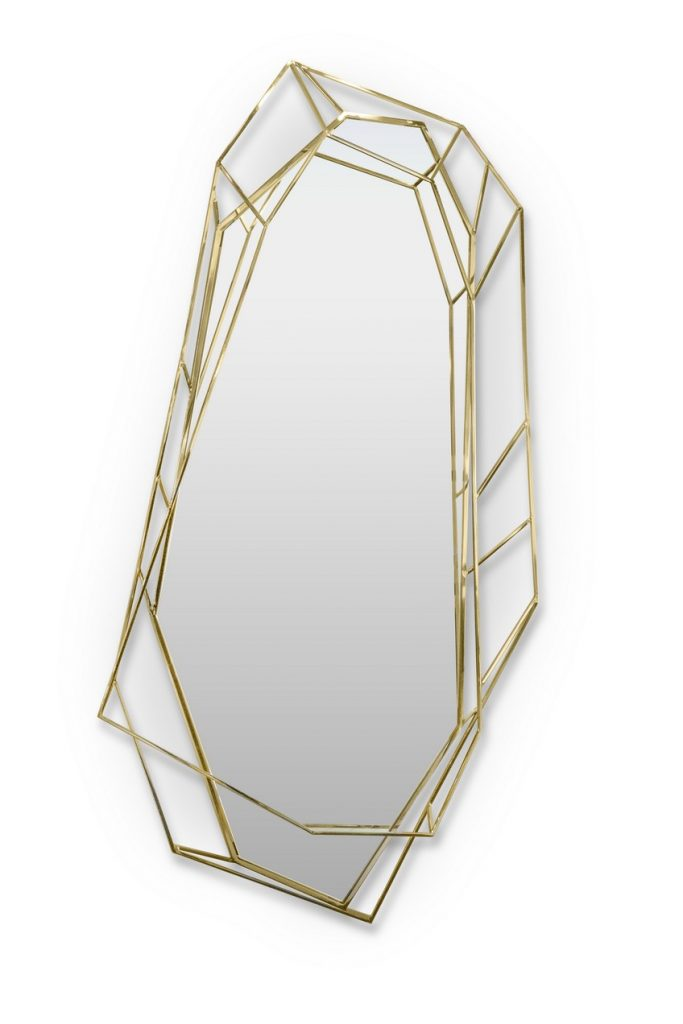 Mid-Century Modern This Noteworthy Mid-Century Modern Mirror Takes the Shape of a Diamond This Noteworthy Mid Century Modern Mirror Takes the Shape of a Diamond 5