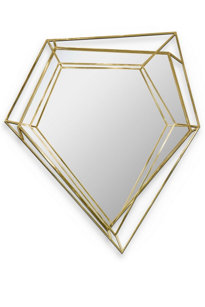 This Noteworthy Mid-Century Modern Mirror Takes the Shape of a Diamond Mid-Century Modern This Noteworthy Mid-Century Modern Mirror Takes the Shape of a Diamond This Noteworthy Mid Century Modern Mirror Takes the Shape of a Diamond 6
