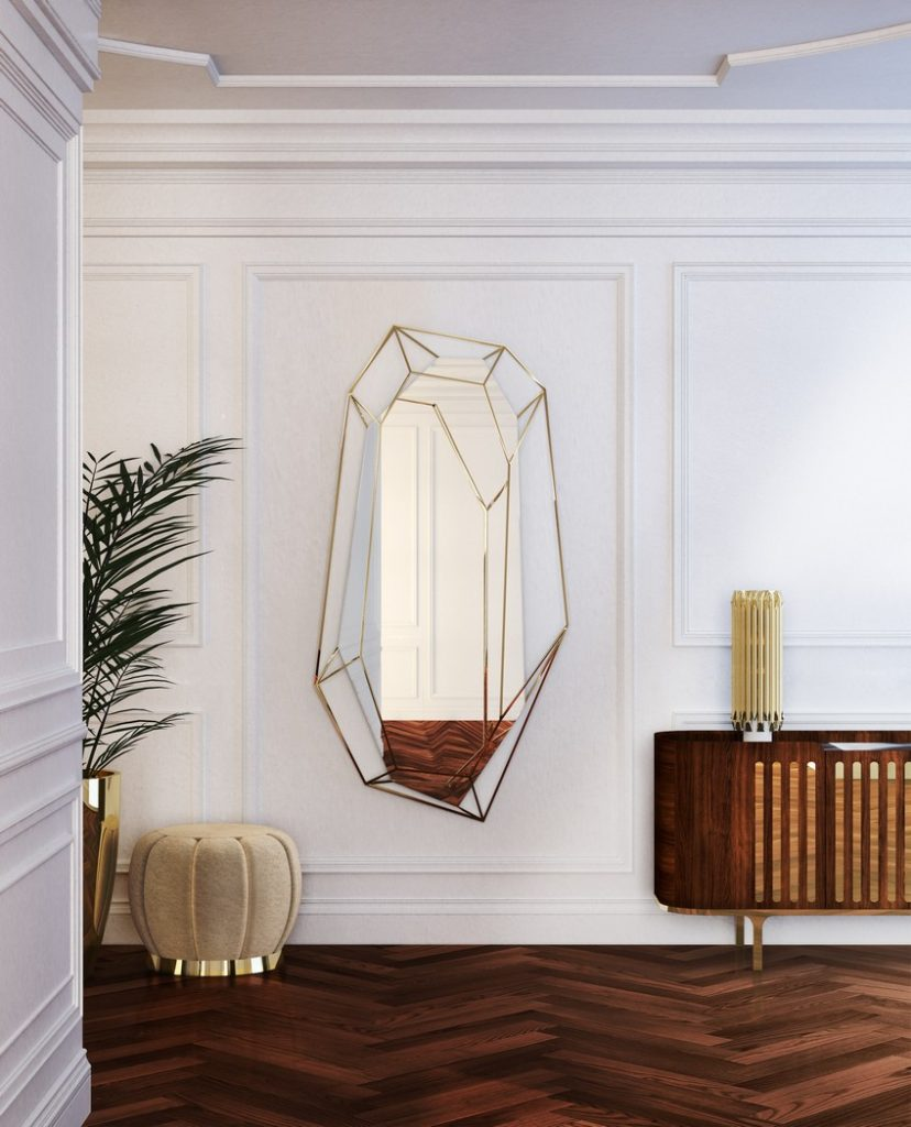 This Noteworthy Mid-Century Modern Mirror Takes the Shape of a Diamond Mid-Century Modern This Noteworthy Mid-Century Modern Mirror Takes the Shape of a Diamond This Noteworthy Mid Century Modern Mirror Takes the Shape of a Diamond 8