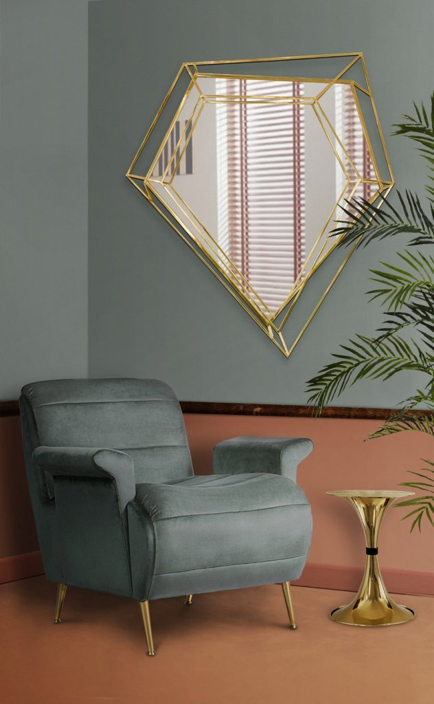 This Noteworthy Mid-Century Modern Mirror Takes the Shape of a Diamond Mid-Century Modern This Noteworthy Mid-Century Modern Mirror Takes the Shape of a Diamond This Noteworthy Mid Century Modern Mirror Takes the Shape of a Diamond 9