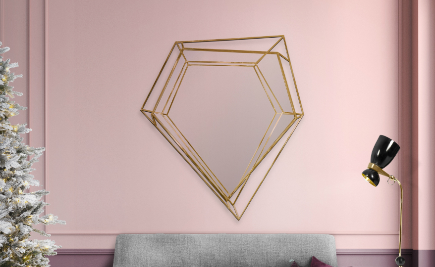 Mid-Century Modern This Noteworthy Mid-Century Modern Mirror Takes the Shape of a Diamond featured 5