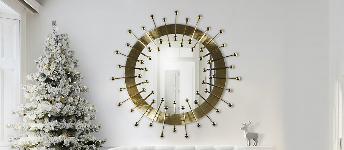 10 Whimsical Christmas Decor Ideas that Highlight Wall Mirror Designs