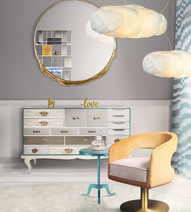 mirror inspirations kid bedroom Mirror Inspirations To Complete Your Kid's Bedroom cloud lamp big circu magical furniture 1