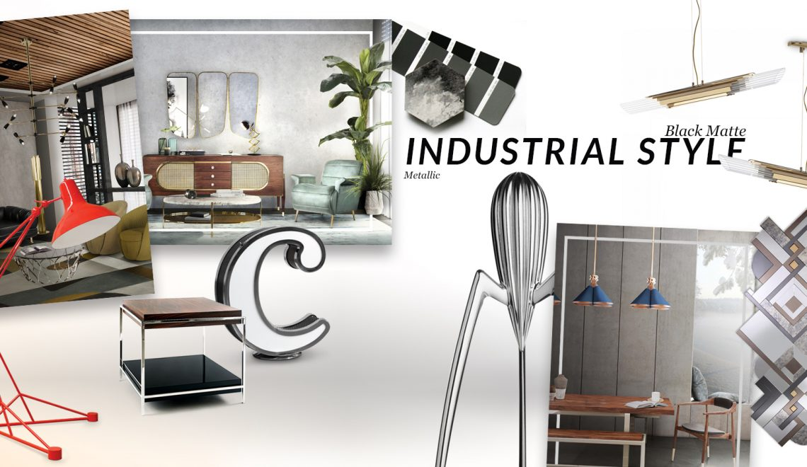 The Perfect Mirrors For Industrial Style Trend industrial style trend The Perfect Mirrors For Industrial Style Trend moodboard collection insdustrial style interior decor trend for 2019 10 1140x660