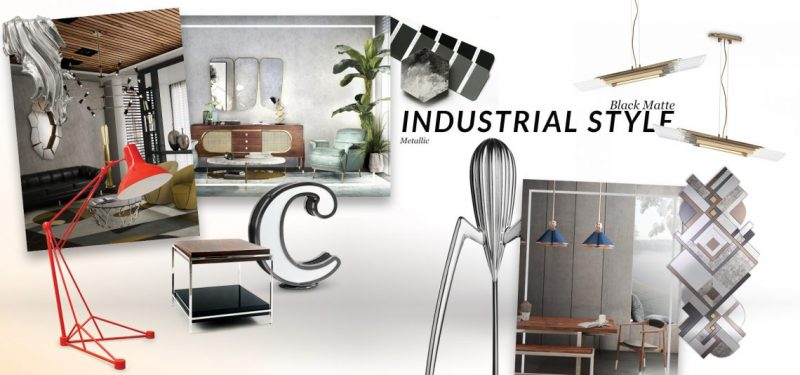 The Perfect Mirrors For Industrial Style Trend industrial style trend The Perfect Mirrors For Industrial Style Trend moodboard collection insdustrial style interior decor trend for 2019 10 e1552040853166