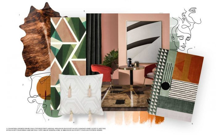 Absorb the Mid-Century Style With Mirrors From Another Era mid century style Absorb the Mid-Century Style With Mirrors From Another Era moodboard collection mid century style interior decor trend for 2019 16 700x438 e1553506081420
