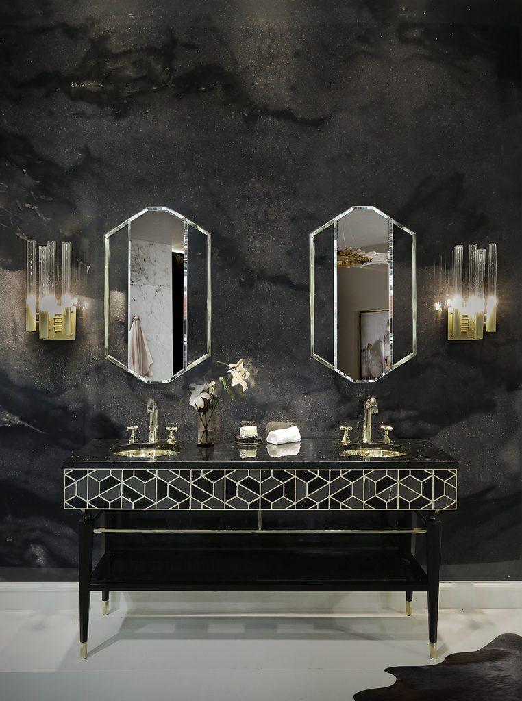 Raw Materials Trend, Where Luxury Meets Design raw materials trend Raw Materials Trend, Where Luxury Meets Design tortoise washbasin saphire mirror