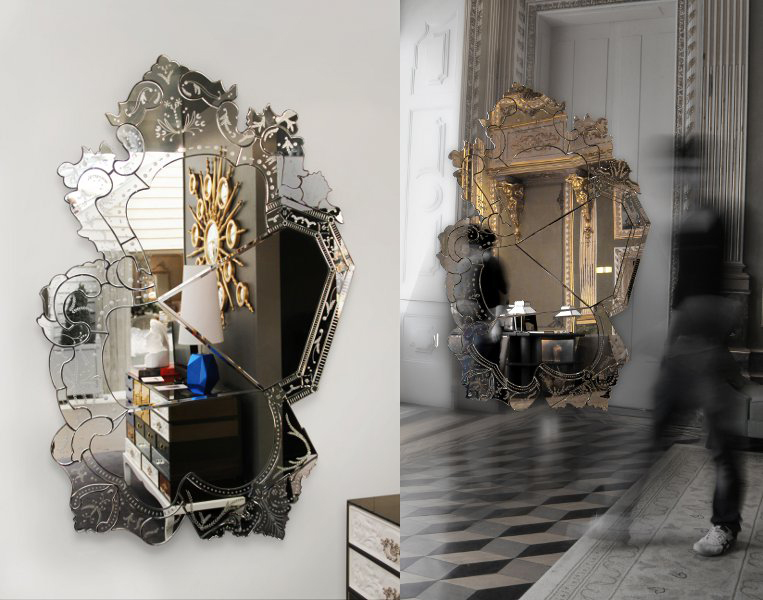 Exquisite Wall Mirrors And Their Spectacular Features wall mirrors Sophisticated Wall Mirrors And Their Spectacular Features 84 in high art mirror boca do lobo venice 1