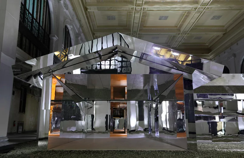 Doug Aitken Creates A Mirrored House In An Old Bank In Detroit