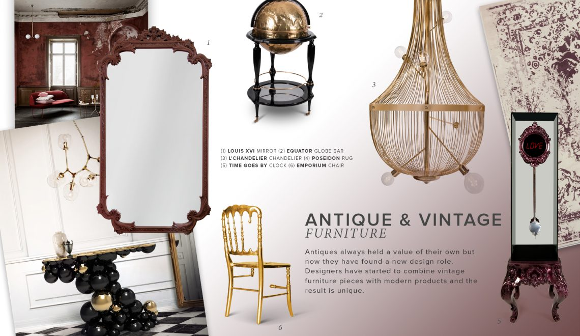 Discover The Greatest Mirrors On The Antique And Vintage Trend antique and vintage trend Discover The Greatest Mirrors On The Antique And Vintage Trend moodboard trends 2019 antiques 1140x660