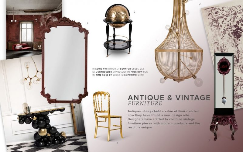 Discover The Greatest Mirrors On The Antique And Vintage Trend antique and vintage trend Discover The Greatest Mirrors On The Antique And Vintage Trend moodboard trends 2019 antiques e1557480721803