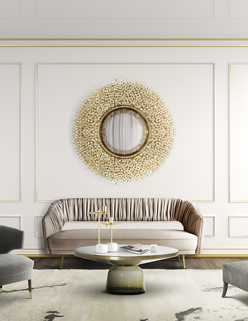 Choose The Perfect Round Mirror To Accessorize Your Home round mirror Choose The Perfect Round Mirror To Accessorize Your Home robin mirror 06 boca do lobo 1