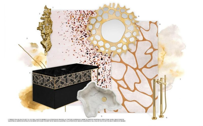 Color Trends 2019: Black and Gold For Your Bathroom