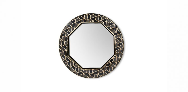 Color Trends 2019: Black and Gold For Your Bathroom color trends 2019 Color Trends 2019: Black and Gold For Your Bathroom tortoise mirror 1 e1562257073105