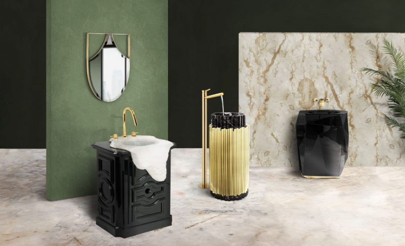 gold-accented wall mirrors Be Inspired By The Gold-Accented Wall Mirrors For Bathrooms Be Inspired By The Gold Accented Wall Mirrors For Bathrooms e1574786847440