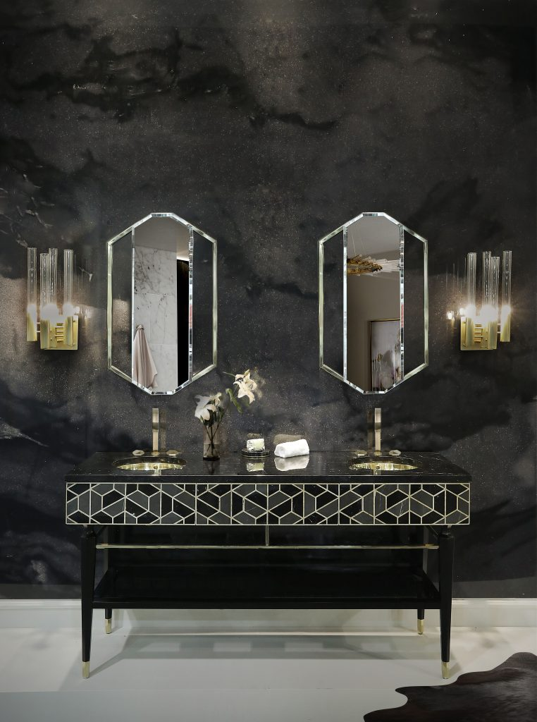 gold-accented wall mirrors Be Inspired By The Gold-Accented Wall Mirrors For Bathrooms Be Inspired By The Gold Accented Wall Mirrors For Bathrooms1