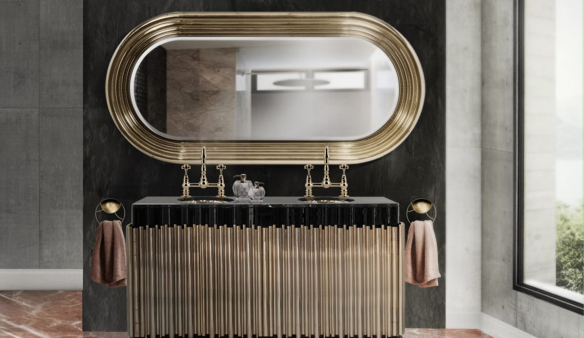 Be Inspired By The Gold-Accented Wall Mirrors For Bathrooms