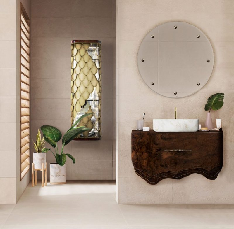 gold-accented wall mirrors Be Inspired By The Gold-Accented Wall Mirrors For Bathrooms Be Inspired By The Gold Accented Wall Mirrors For Bathrooms4 e1574786810565