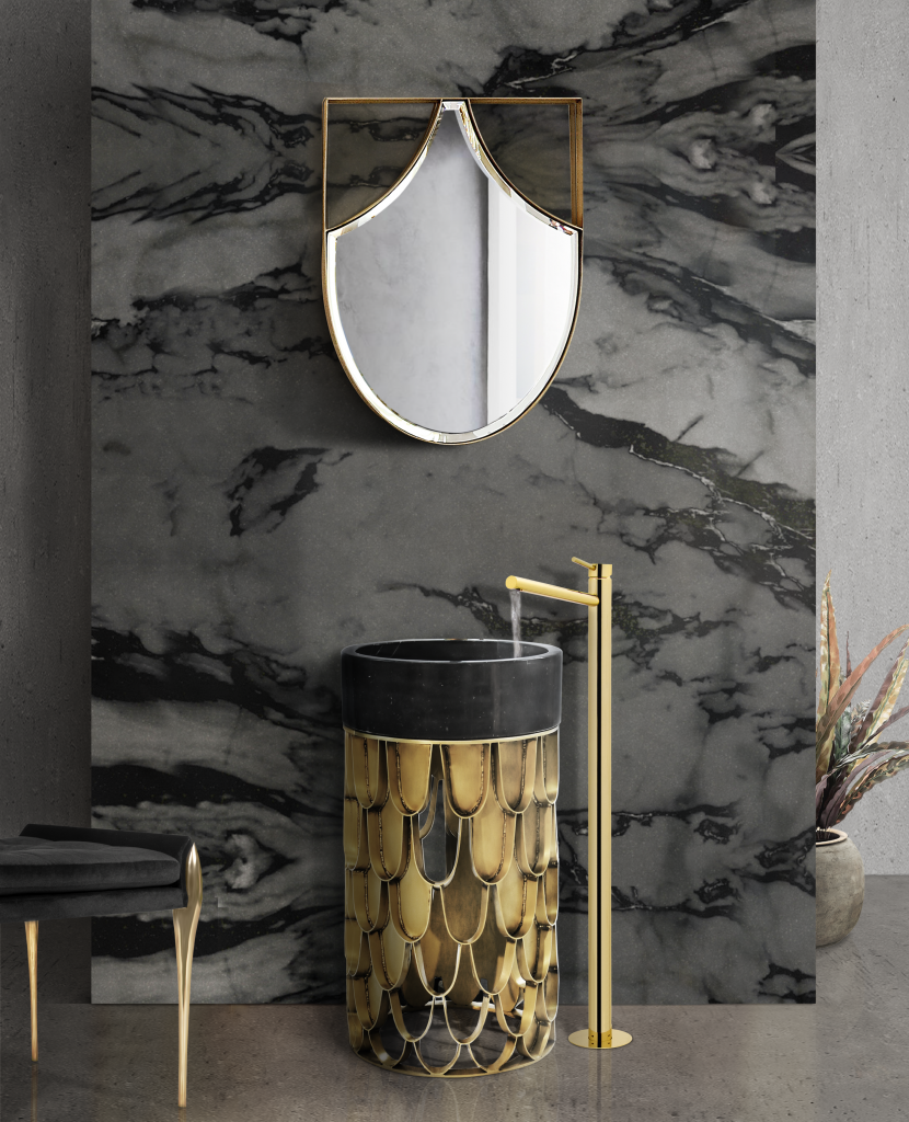 bathroom mirrors Bathroom Mirrors To Fall In Love In 2020 revamp luxury bathroom amazing mirrors 5